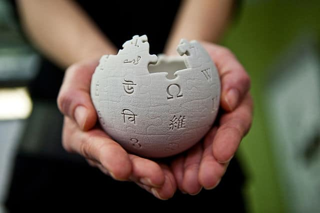 "Wikimedia Foundation (https://commons.wikimedia.org/wiki/File:Wikipedia_mini_globe_handheld.jpg), ""Wikipedia mini globe handheld"", https://creativecommons.org/licenses/by-sa/3.0/legalcode"