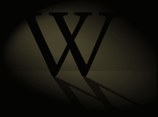 "Pretzels (https://commons.wikimedia.org/wiki/File:Wikipedia_SOPA_Blackout_Design_W_cropped.png), ""Wikipedia SOPA Blackout Design W cropped"", https://creativecommons.org/licenses/by-sa/3.0/legalcode"