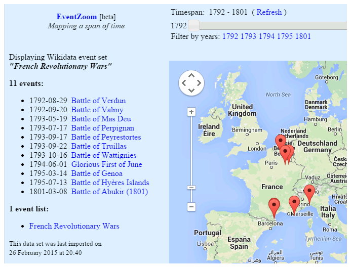 Visualizing history with automated event maps wikimedia dynamic historical map extracting data from the wikidata api works like a charm sometimes of course some data might be missing from wikidata gumiabroncs Choice Image