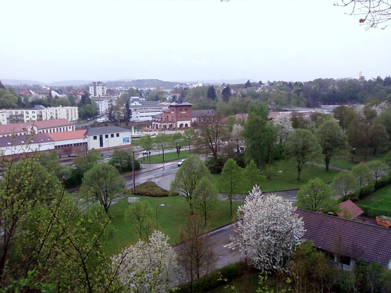 Blick vom Kaiserberg über das Gartenschaugelände
